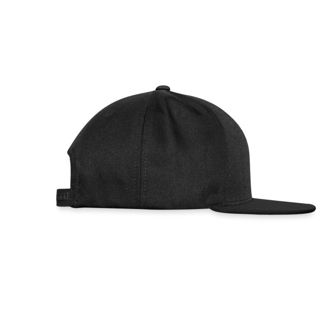 Snap-back Baseball Cap (Black)