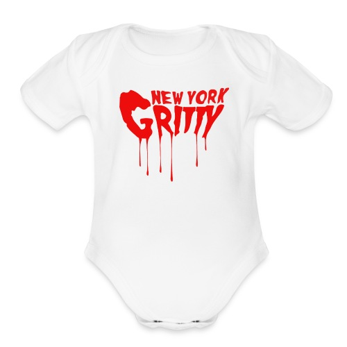 New York Gritty Baby (Various Colors) - Organic Short Sleeve Baby Bodysuit