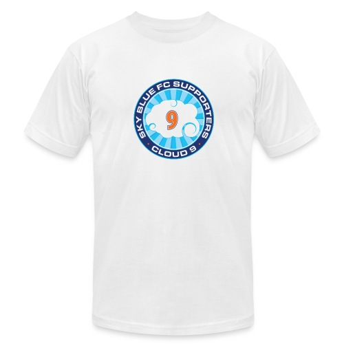 Cloud 9 Logo Men's Tee – White - Men's Fine Jersey T-Shirt