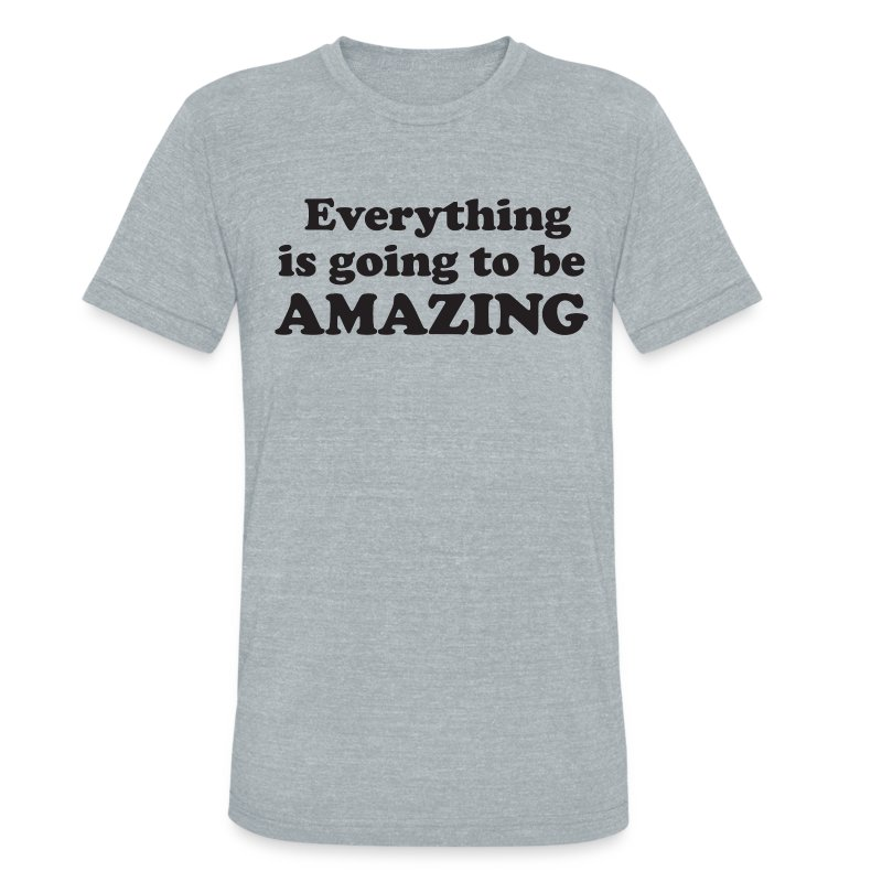 Amazing Fitted Tee (Unisex) - Unisex Tri-Blend T-Shirt by American Apparel