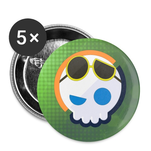Gnoggin skull buttons : white - Small Buttons