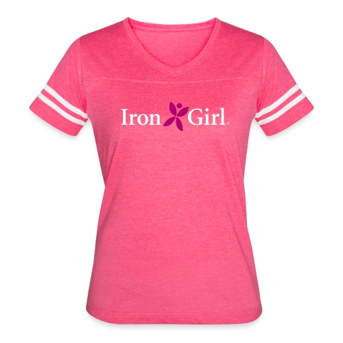 IRON GIRL Vintage Tee - Women's Vintage Sport T-Shirt