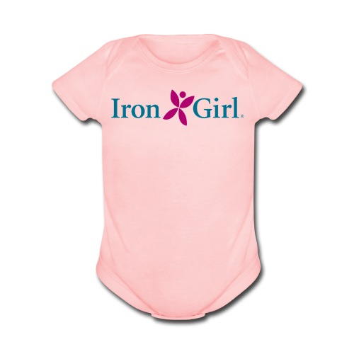 IRON GIRL Baby Bodysuit - Organic Short Sleeve Baby Bodysuit