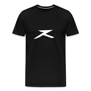 JeXe Z (Z) 2D Logo [White On Black] - Shirt - Men's Premium T-Shirt