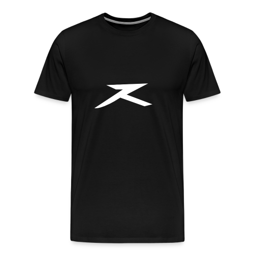 JeXe Z (Z) 2D Logo [White On Black] - Shirt - Men's Premium T-Shirt