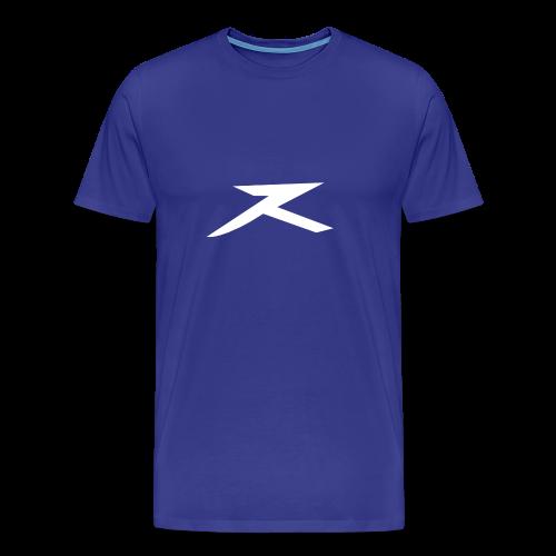JeXe Z (Z) 2D Logo [White On Blue] - Shirt - Men's Premium T-Shirt