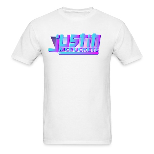Justin McBuckets Logo Tee - Men's T-Shirt