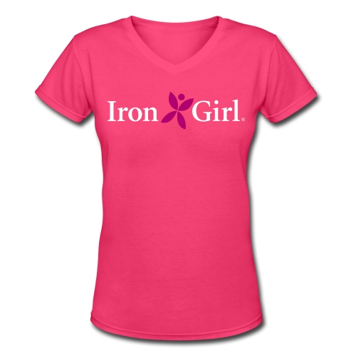 IRON GIRL Women's V-Neck T-Shirt - Women's V-Neck T-Shirt