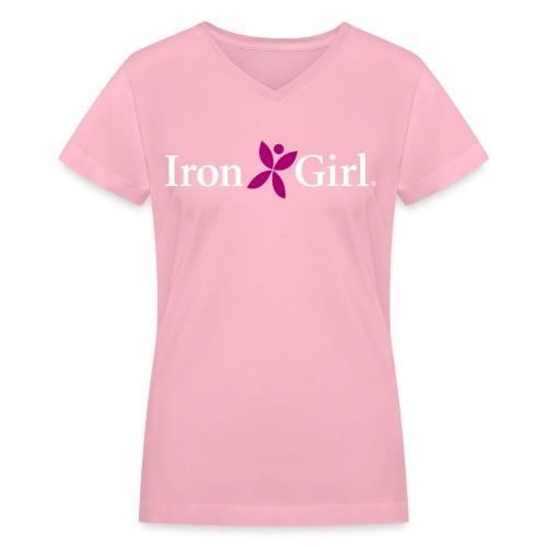 IRON GIRL Women's V-Neck T-Shirt - Women's V-Neck T-Shirt