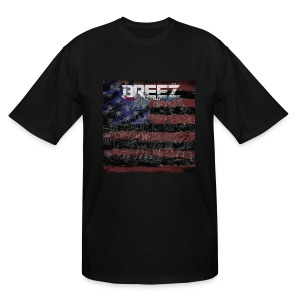 Breez red black and blue (mens+tall) - Men's Tall T-Shirt
