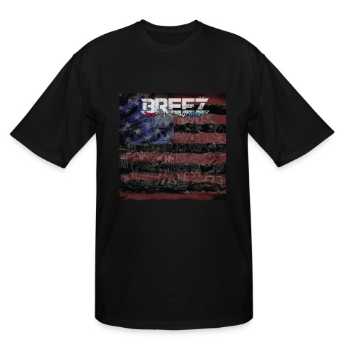 Breez red black and blue (mens+tall) - Men's Tall T-Shirt