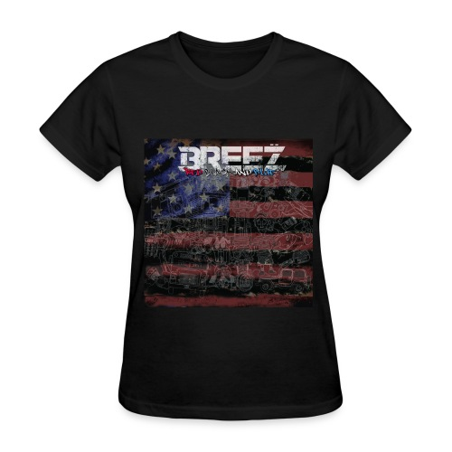 Breez red black and blue (lady+tee) - Women's T-Shirt