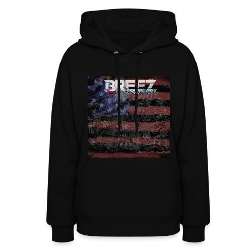 Breez red black and blue (lady+hoody) - Women's Hoodie