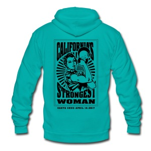 California's Strongest Woman Hoodie  - Unisex Fleece Zip Hoodie by American Apparel