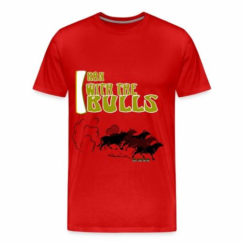 MEN L RED TEE - Men's Premium T-Shirt