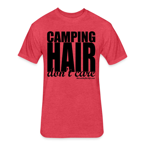 CampHairCottonFit - Fitted Cotton/Poly T-Shirt by Next Level