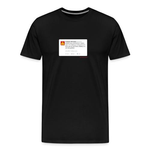pdxalertshirt No.161205-2 - Men's Premium T-Shirt