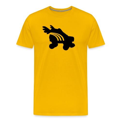 Roller Skate retro rainbow and wings - Men's Premium T-Shirt