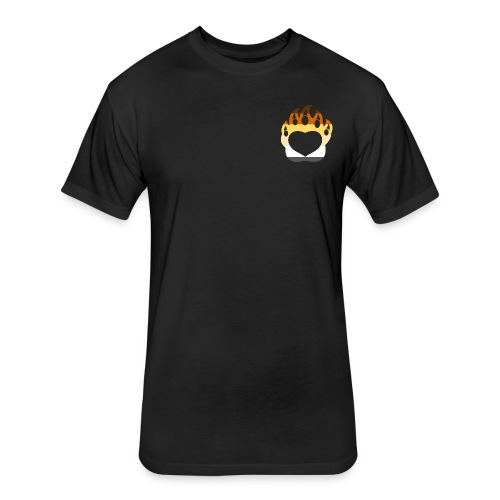 Bear Pride Paw - Fitted Cotton/Poly T-Shirt by Next Level