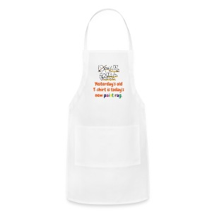 Apron - Yesterday's old T-shirt is today's new paint rag - Adjustable Apron