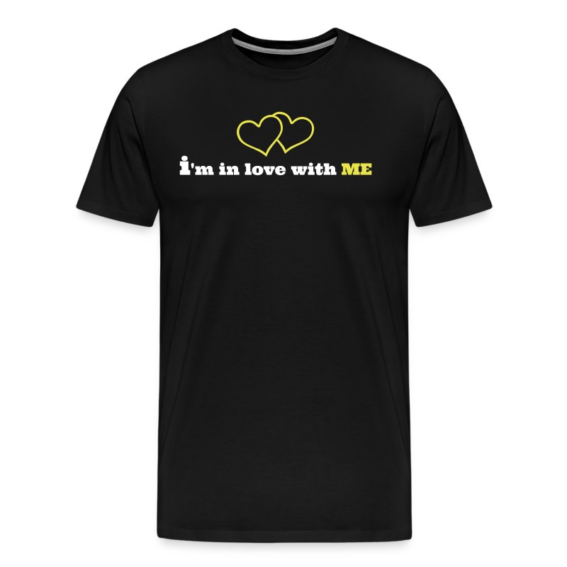 I'M IN LOVE WITH ME double heart - Men's Premium T-Shirt