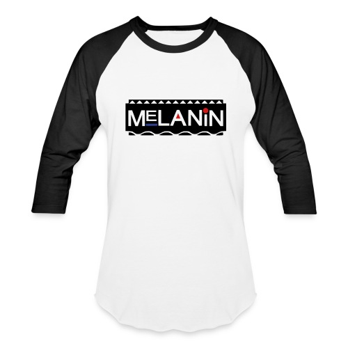 Melanin - Baseball T-Shirt
