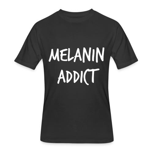 Melanin Addict  - Men's 50/50 T-Shirt