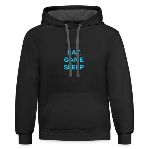 Eat.Game.Sleep Hoodie - Contrast Hoodie