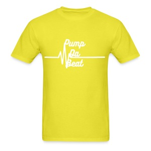 Pump Da Beat Men Yellow and White - Men's T-Shirt