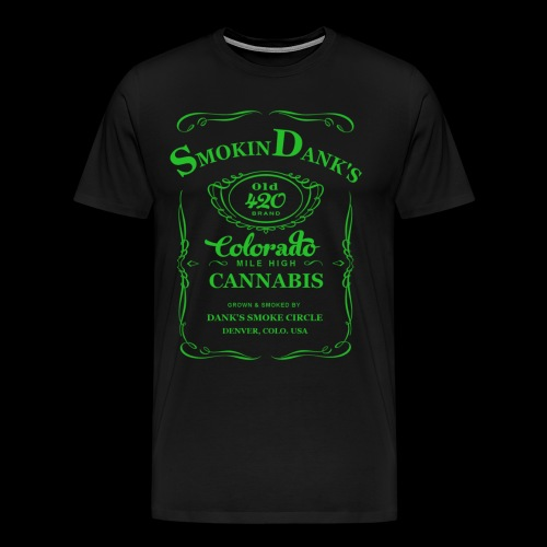 Dank Old 420 Tee (Green Logo) - Men's Premium T-Shirt