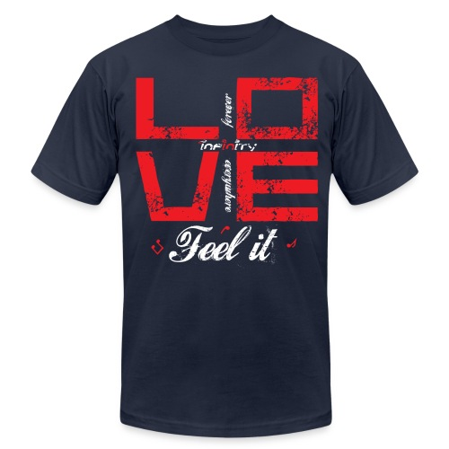 Love - Feel It - Men's Fine Jersey T-Shirt