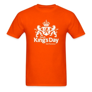 T-Shirt Dutch King's Day San Francisco - White Logo - Men's T-Shirt