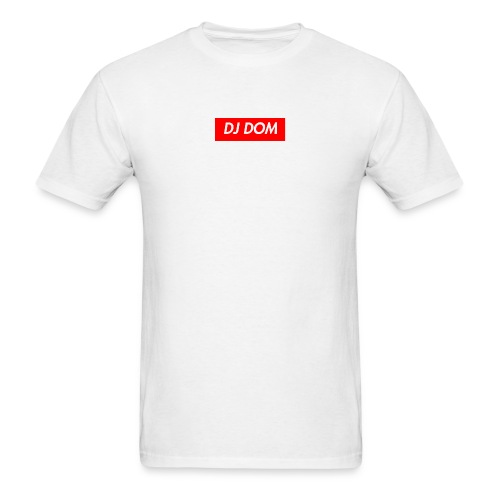 DJ DOM Box Logo Red/White - Supreme New York Inspired* - Men's T-Shirt