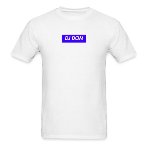 DJ DOM Box Logo Blue/White - Supreme New York Inspired* - Men's T-Shirt