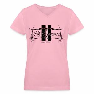 Pink Horsepower - Women's V-Neck T-Shirt