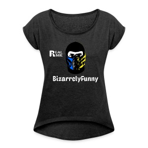BizarrelyFunny Female Short Sleeve Shirt - Women's Roll Cuff T-Shirt