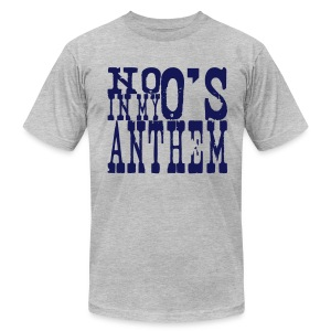 No O's In My Anthem Tee - Navy and Heather - Men's T-Shirt by American Apparel