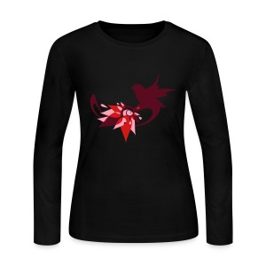 Fantasy bird's nest made ​​of leaves with a bird Long Sleeve Shirts - Women's Long Sleeve Jersey T-Shirt