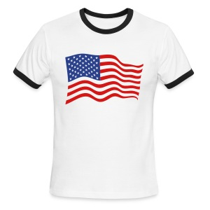 Stars and Bars, Baby! Show your American Spirit in style. - Men's Ringer T-Shirt
