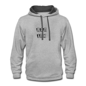 Heather Grey RAN Ink Hoodie - Contrast Hoodie