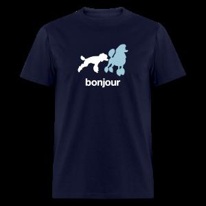 Bonjour Poodles Tee - Men's T-Shirt