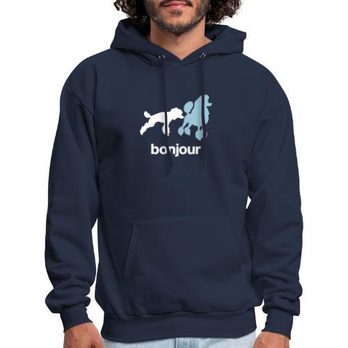 Bonjour Poodles Hoodie - Men's Hoodie