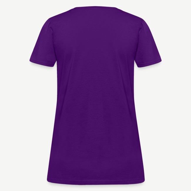 HBCU Girls Hustle Harder - Women's White, Pink and Purple T-shirt