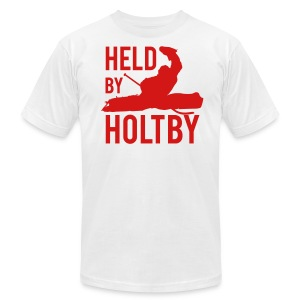 Held By Holtby Tee - White - Men's T-Shirt by American Apparel