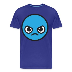 Kawaii Angry Face - blue T-Shirts - Men's Premium T-Shirt