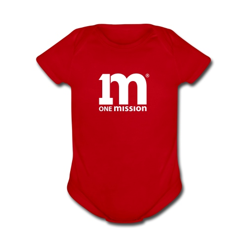 One Mission Baby    *Other Colors Available* - Organic Short Sleeve Baby Bodysuit