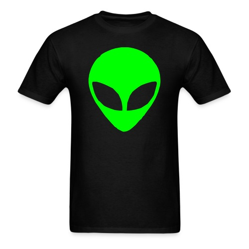 Neon Green Alien (Men) - Men's T-Shirt