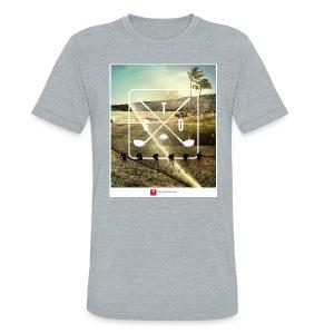CourseCollage2 (heather) t-shirt - Unisex Tri-Blend T-Shirt