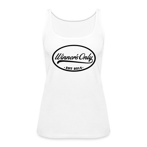Winner's Only Women's White/Blk Tank - Women's Premium Tank Top