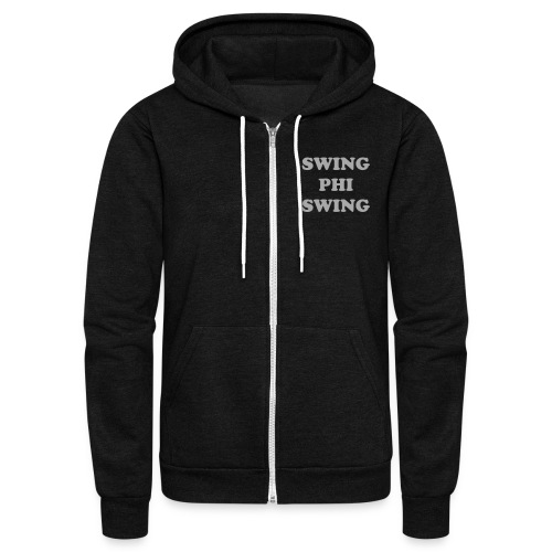 Swing Phi Swing in Glitter Print - Unisex Fleece Zip Hoodie